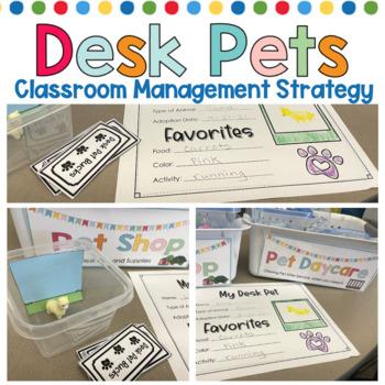 Desk Pets start resource found on TeacherspayTeachers