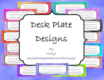 Desk Plate Designs-- Cloudy Skies