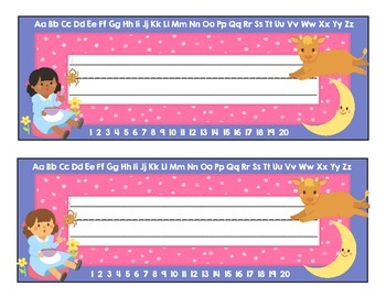 Desk Plate Name Tags (Nursery Rhyme Theme) for Back to School