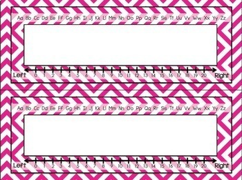 Desk Plates {Chevron Classroom Decor Theme}
