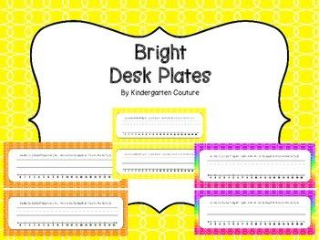 Desk Plates -Bright