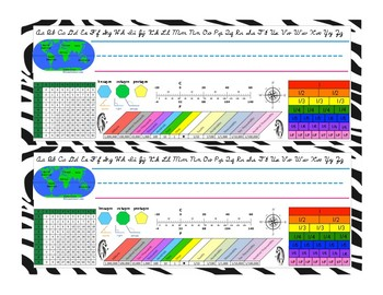 Desk Plates For Upper Elementary Students Zebra Theme