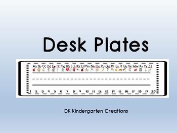 Desk Plates *Freebie*