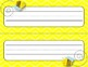 Desk Plates, Labels, Tags & More!  ***EDITABLE*** ~Buzzy Bees Theme~