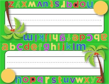 Desk Plates, Labels, Tags & More!  **EDITABLE**  ~Coconut Tree Theme~