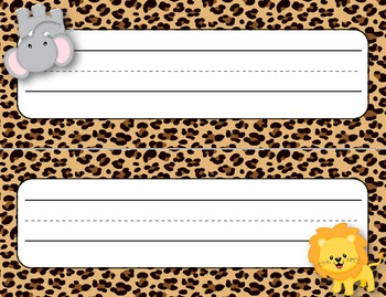 Desk Plates, Labels, Tags & More!  ***EDITABLE*** ~Jungle Theme~