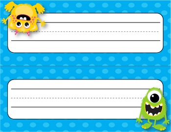 Desk Plates, Labels, Tags & More!  ***EDITABLE*** ~Monsters Theme~