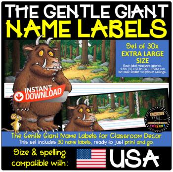 The Gruffalo Desk Plates/Name Labels for Classroom Decor