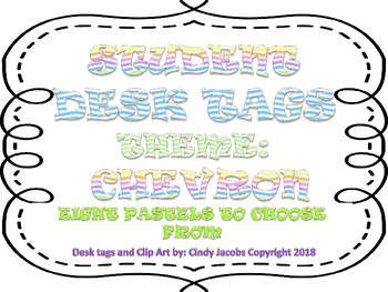 Desk Plates Name Plates Desk Tags for Students