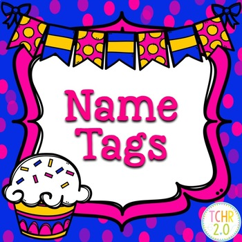 Cupcake Name Tags