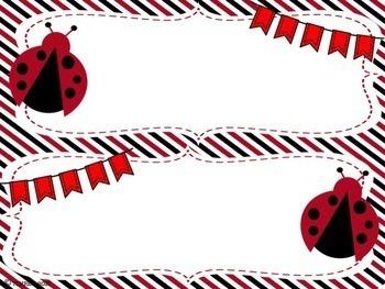 Ladybug Name Tags