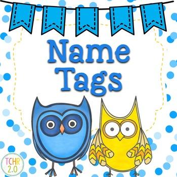Owl Name Tags