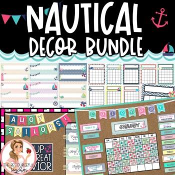 {ON SALE 48 HRS} Desk Plates / Name Tags - Nautical Theme