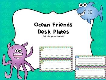 Desk Plates -Ocean Friends