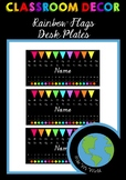 Desk Plates - Rainbow Flags