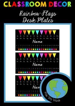 Desk Plates - Rainbow Flags