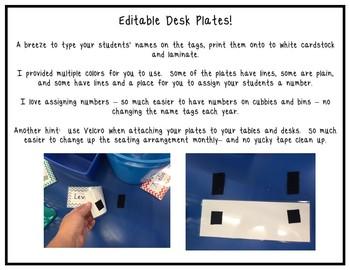 Desk Plates - editable