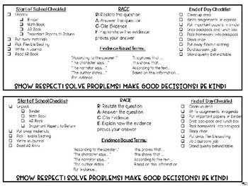 Desk Plates for Routines and R.A.C.E.  (EDITABLE)