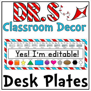 Desk Plates in a Dr S Decor Theme