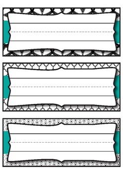 Desk Plates_Black and White Classroom Theme