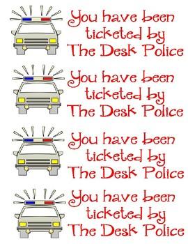 Desk Police Ticket