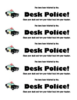 Desk Police Tickets