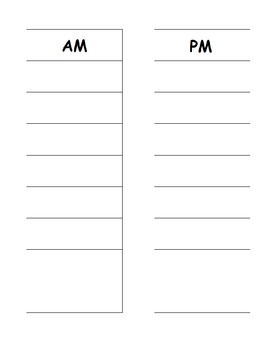 Desk Schedule Pieces for an ESE Classroom