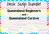 Desk Strips (Queensland Fonts) Scribble Background