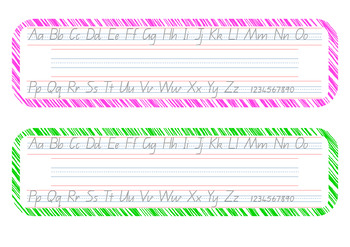Desk Strips (Queensland Fonts) Scribble Background