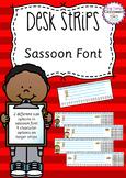 Desk Strips - Sassoon Font