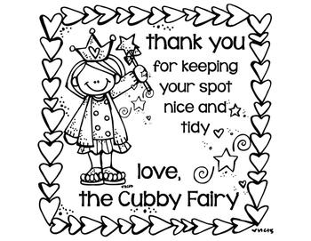 Table, Cubby, Locker, and Desk Fairy