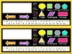 Desk Table Seating Name Tags (Black and Colorful Series)