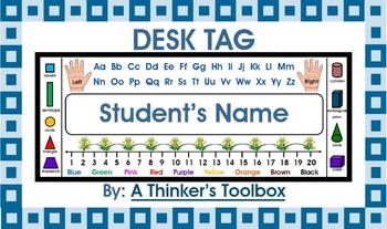 Desk Tags K-1 (Personalize)