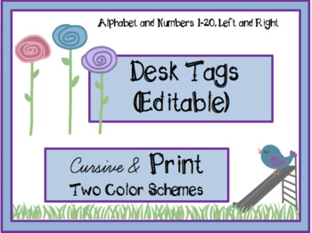 Desk Tag Name Plates (Editable)