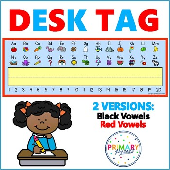 Desk Tag / Name Plate (Beginning Sound Pictures & Numbers)