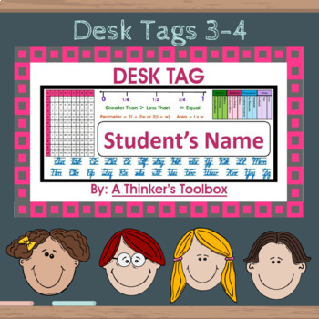 Desk Tags 3-4 (Personalize)