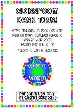 Desk Tags