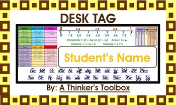 Desk Tags 4-5 (Personalize)