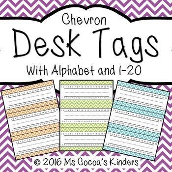 Desk Name Tags - Chevron