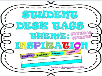 Desk Tags Desk Plates Name Plates for Students