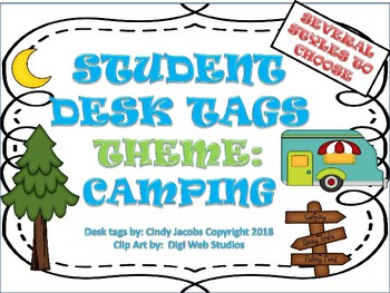 Desk Tags Desk Plates Name Tags for Students