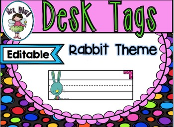 Desk Tags {Editable} Rabbit Theme
