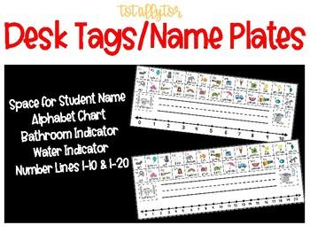 Desk Tags/Name Plates (EDITABLE)