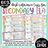 Desk Tags Name Tags Reference Sheets for Middle and High School ELA