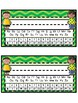 Desk Tags - Printable Name Tags with Alphabet & Numbers - Kids Theme