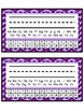 Desk Tags - Printable Name Tags with Alphabet & Numbers - Purple Chevron