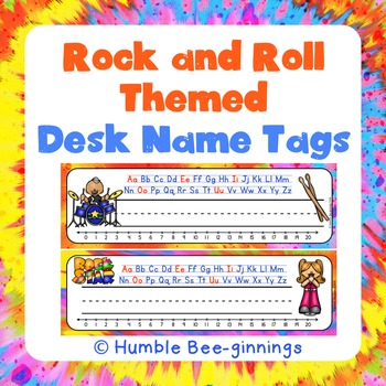 Desk Tags - Rock Star Themed