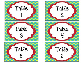 Desk Tags and Table Signs: Colorful EDITABLE