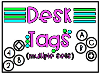 Desk Tags for Classroom Management