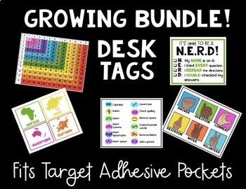 Desk Tags for Target Adhesive Pockets (GROWING BUNDLE!)